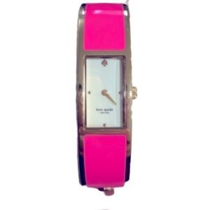 Kate Spade Gold & Neon Pink Hot to Trot Bangle Watch